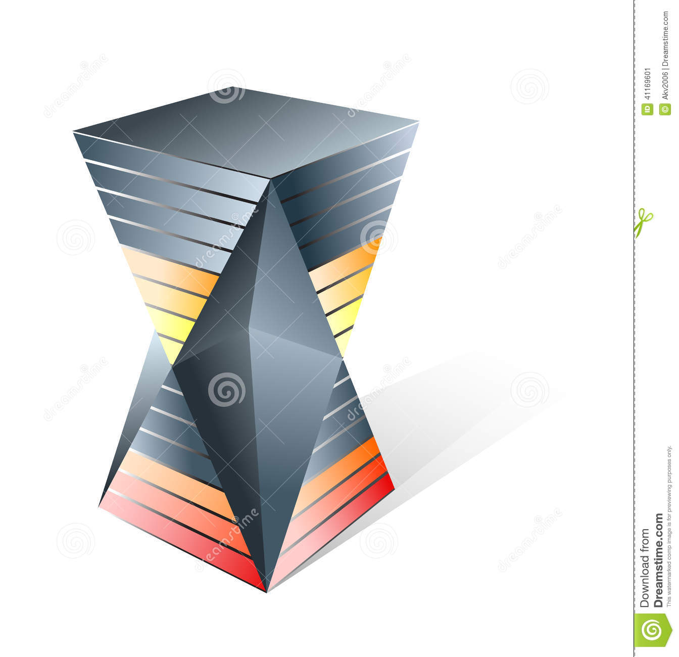 hourglass sandglass graphic concept stock vector image