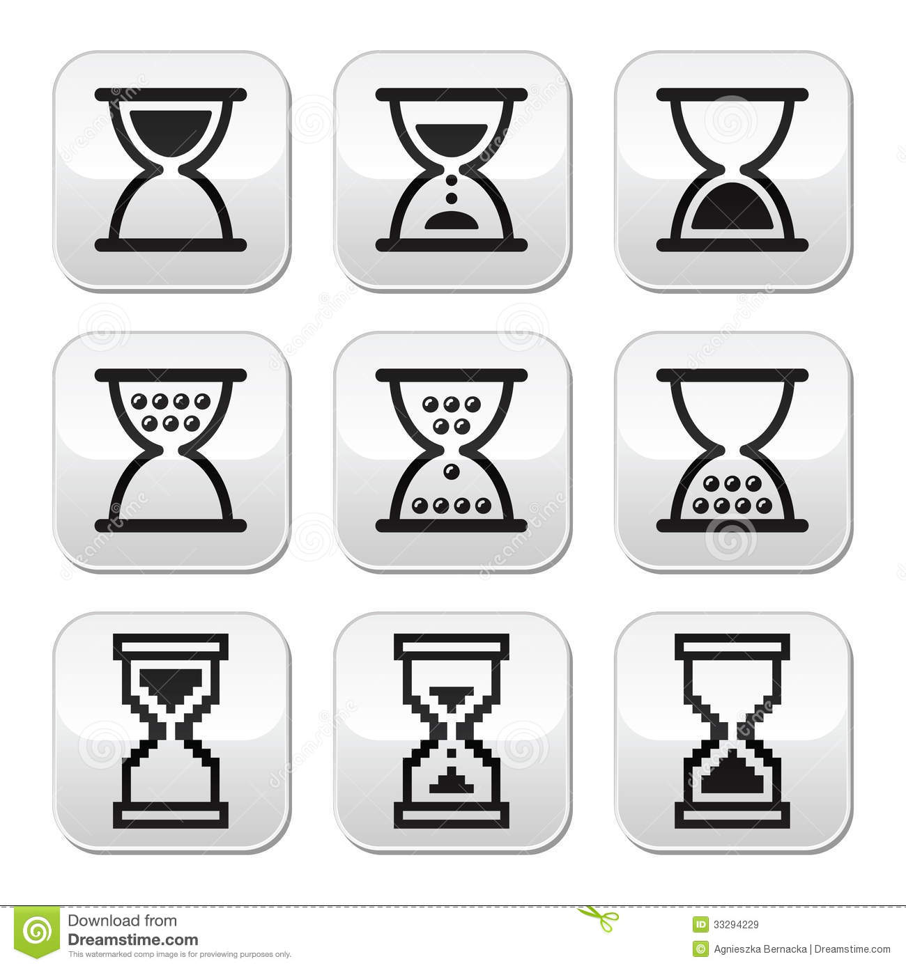 Sandglass icon  Hourglass, Sandglass Icon Set Royalty Free Stock Images - Image ...
