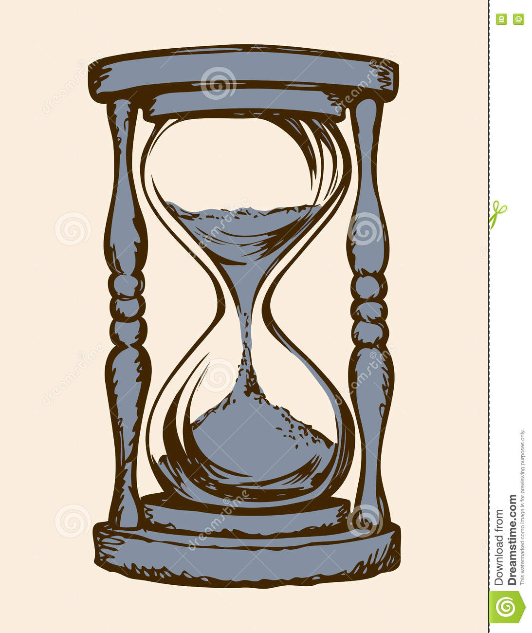 Hourglass drawing  Hourglass. Vector Drawing Stock Vector - Image: 76772588