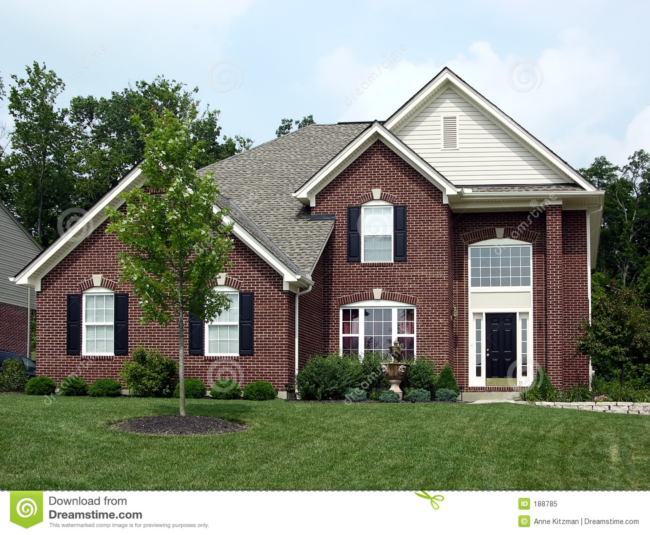 House stock image image of story home countryside for 2 story house with garage