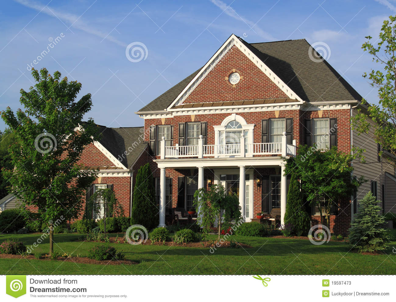 Two Story Brick House Stock Image Image Of Homestead