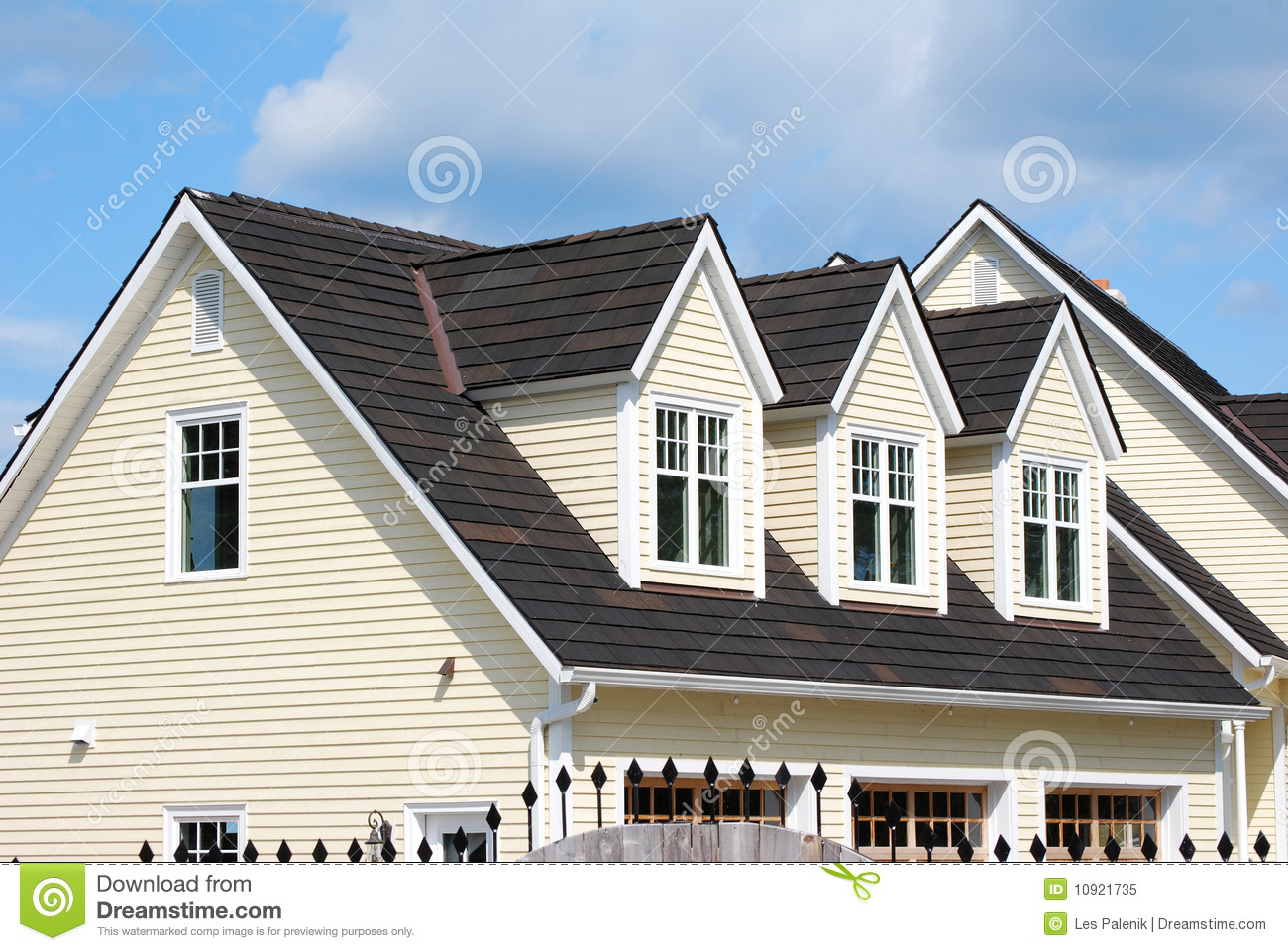 House With 3 Dormers Stock Image Image Of House Home