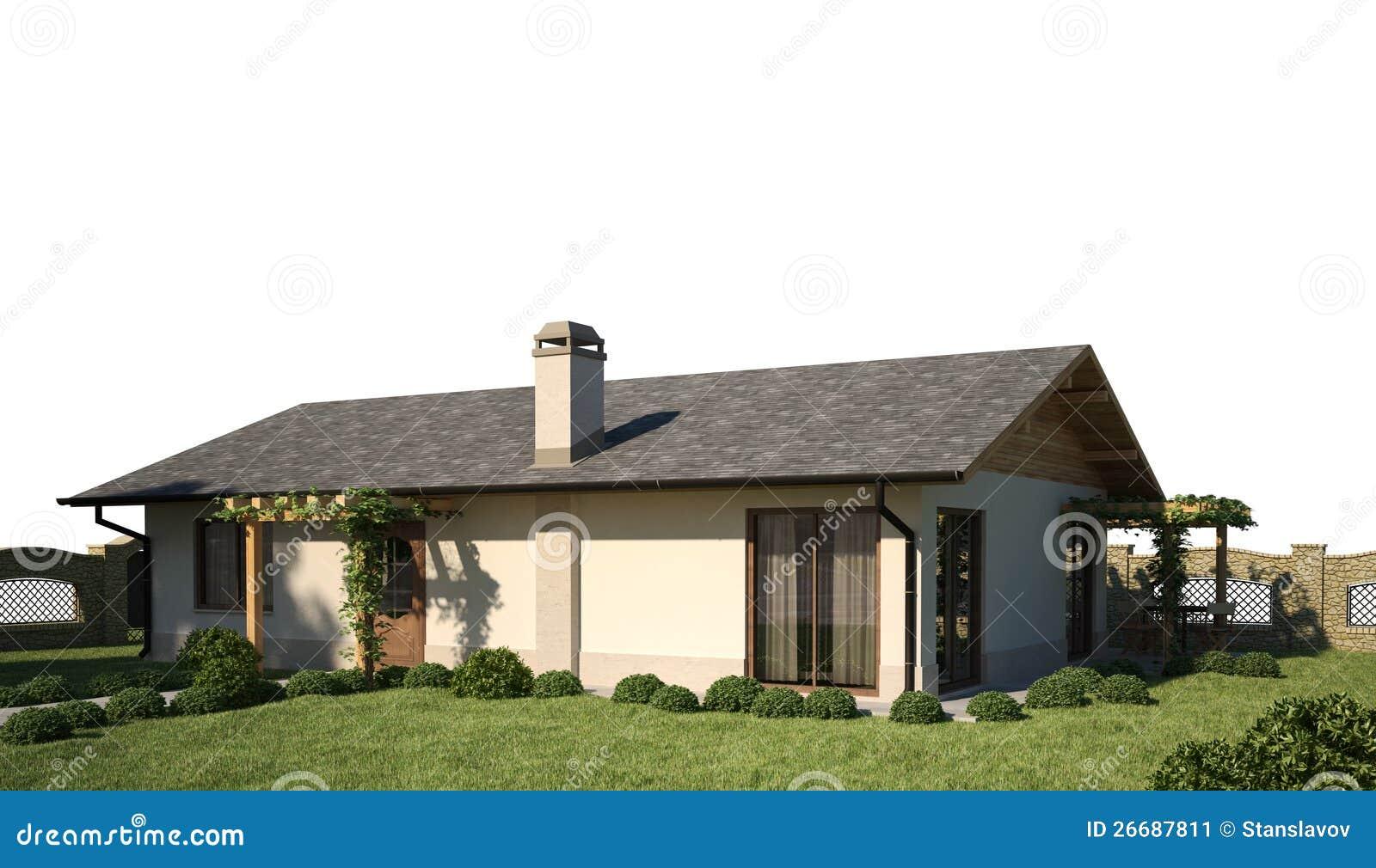 house 3d scene exterior stock image   image 26687811