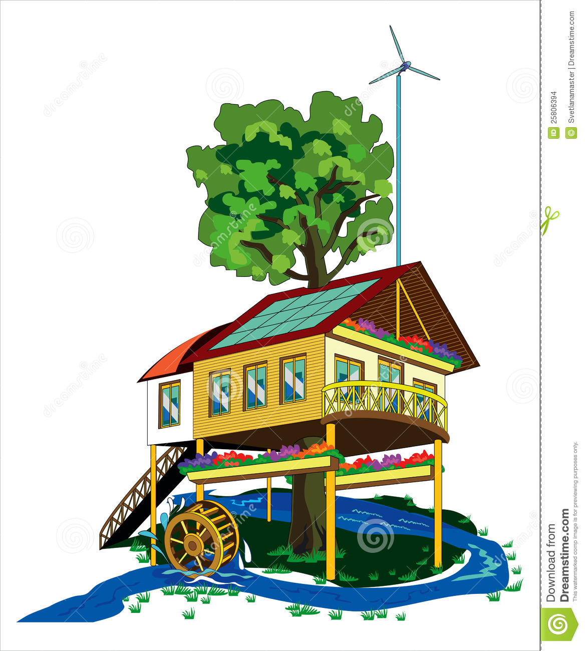 House With Alternative Energy Sources Stock Images - Image: 25806394