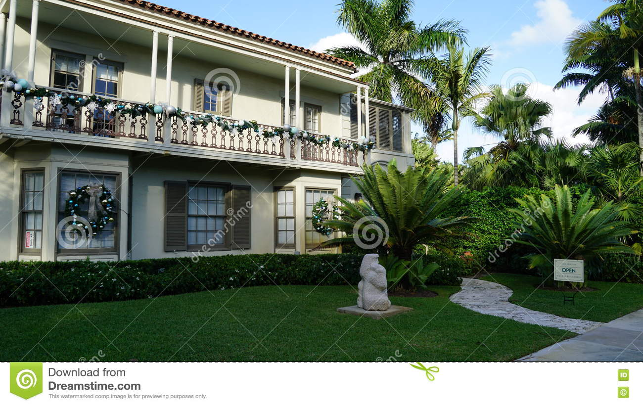 House At Ann Norton Sculpture Gardens, West Palm Beach, Florida ...
