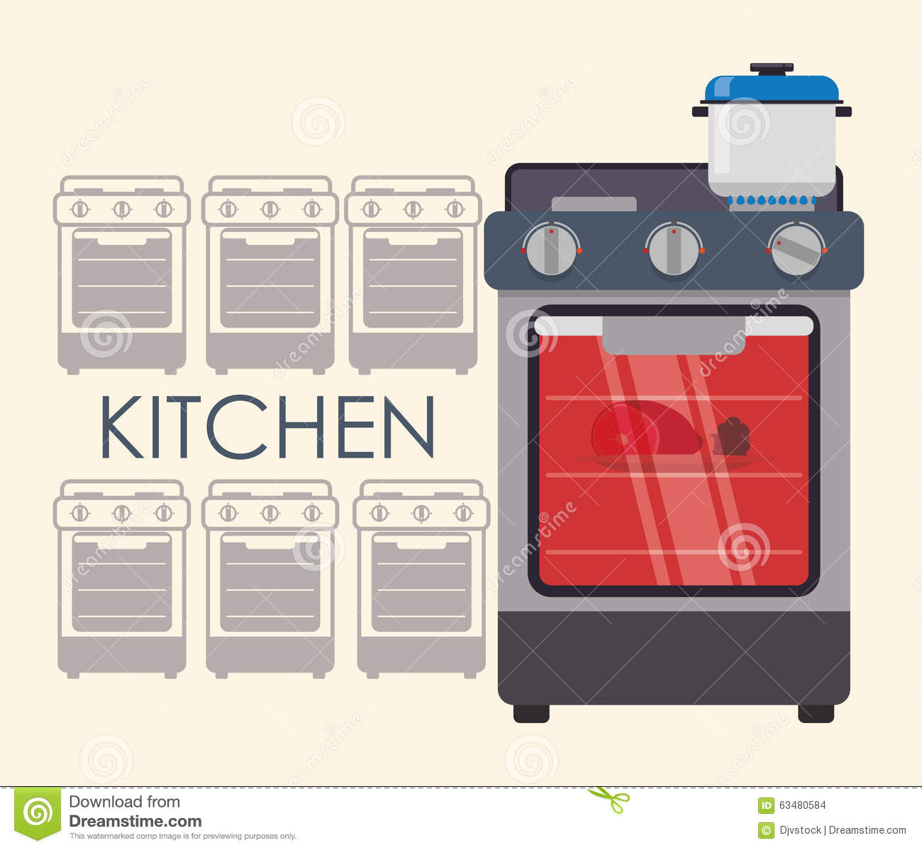 House appliances design stock vector image 63480584 for Household appliances design