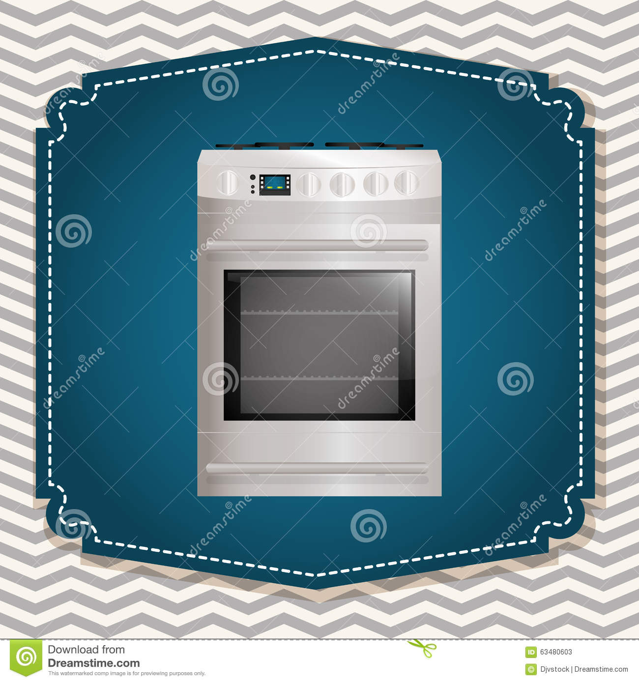 House appliances design stock vector image 63480603 for Household appliances design