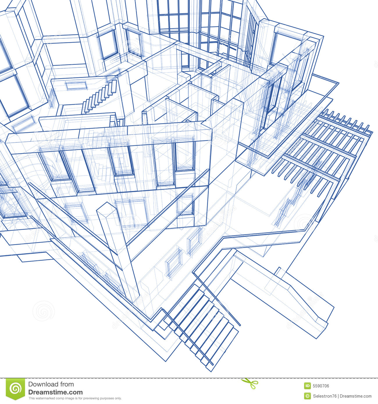 House Architecture Blueprint Royalty Free Stock Image