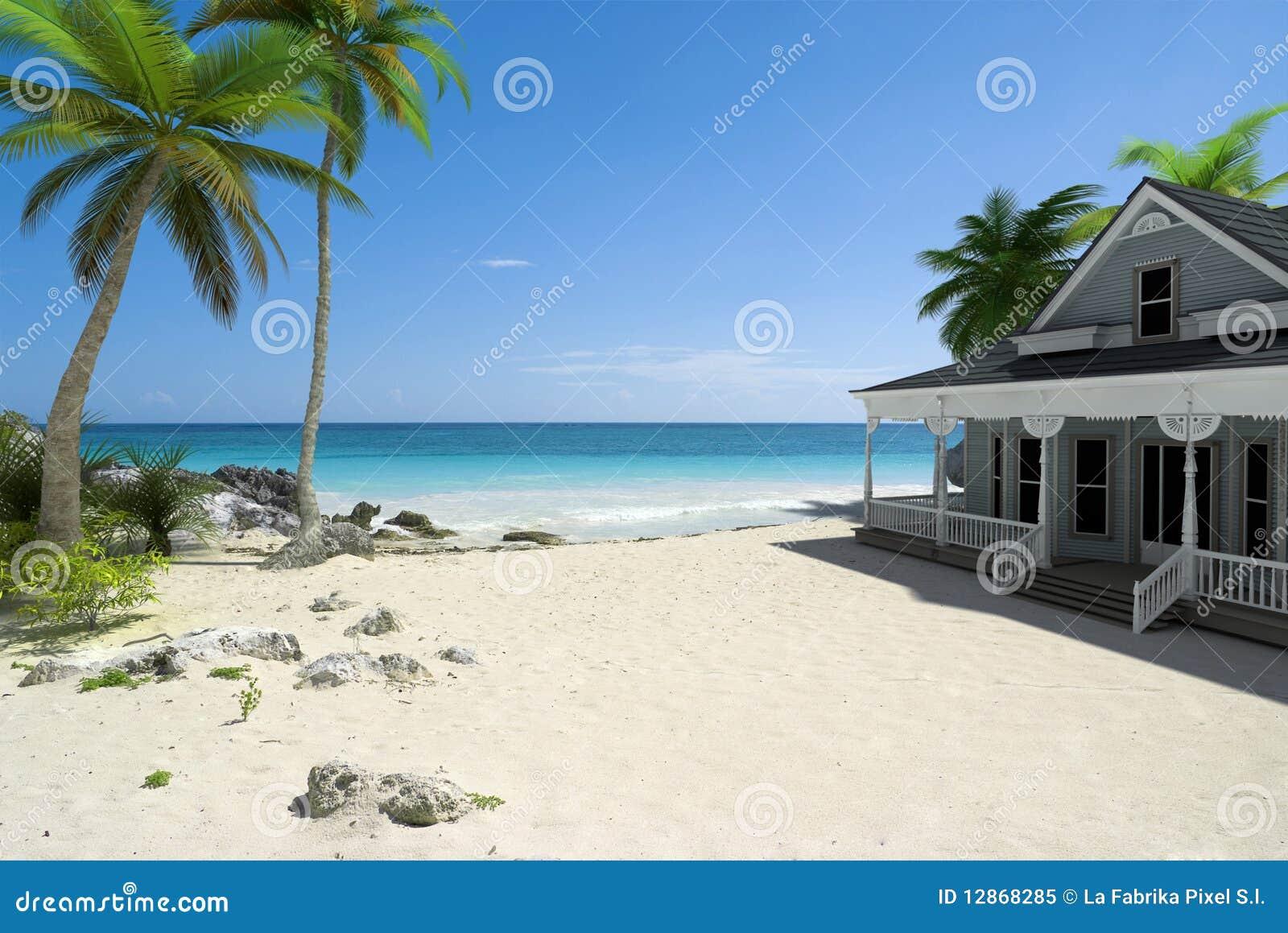 Дом на пляже фото