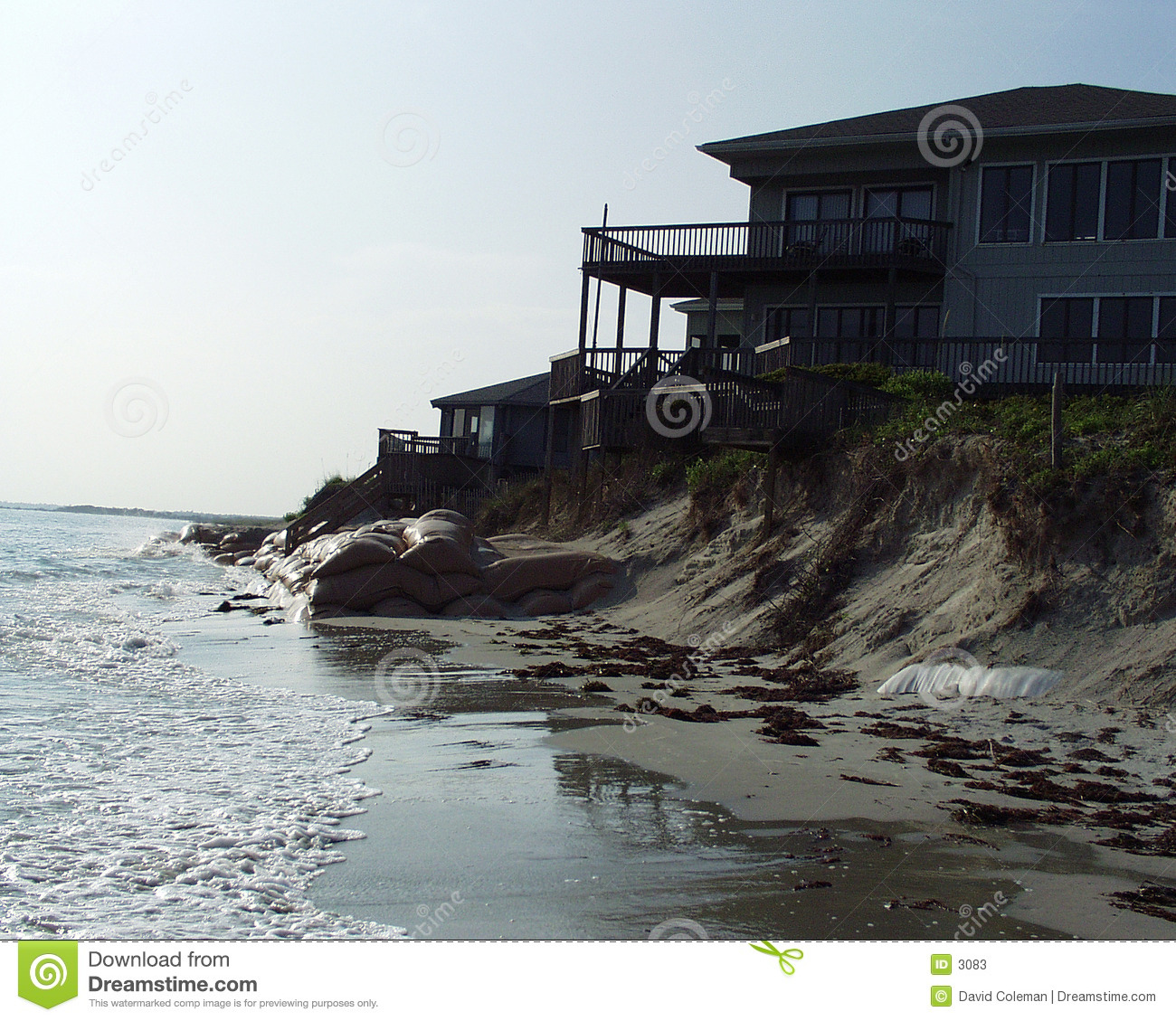 House on beach front