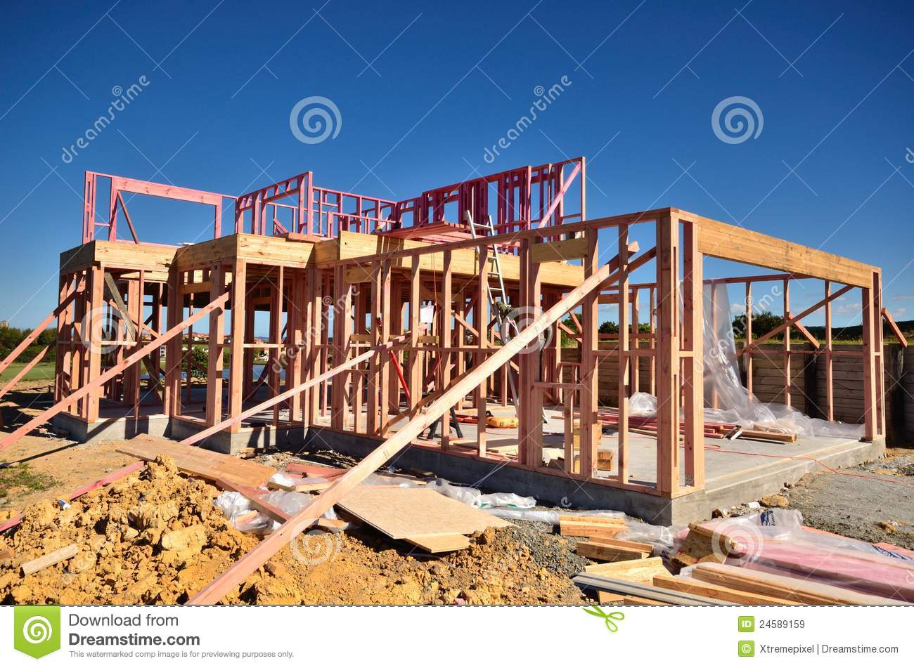 House Being Built Stock Image Image Of House Frame