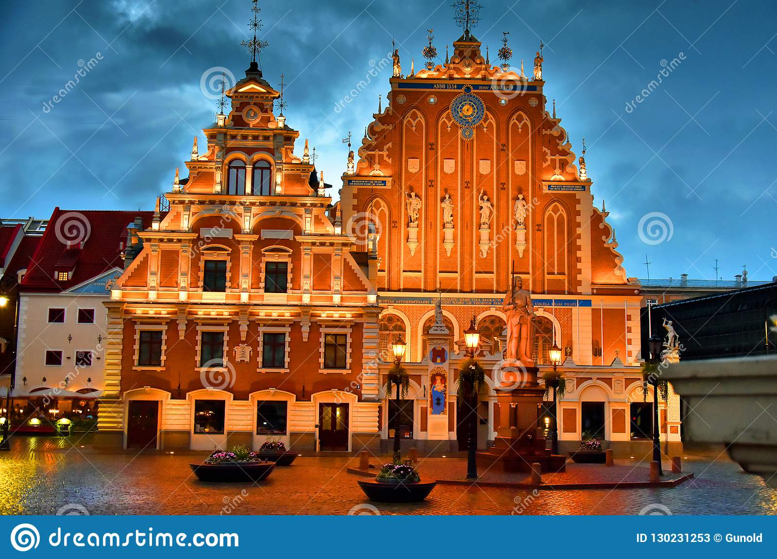 House of the Blackheads in the old town of Riga, Latvia