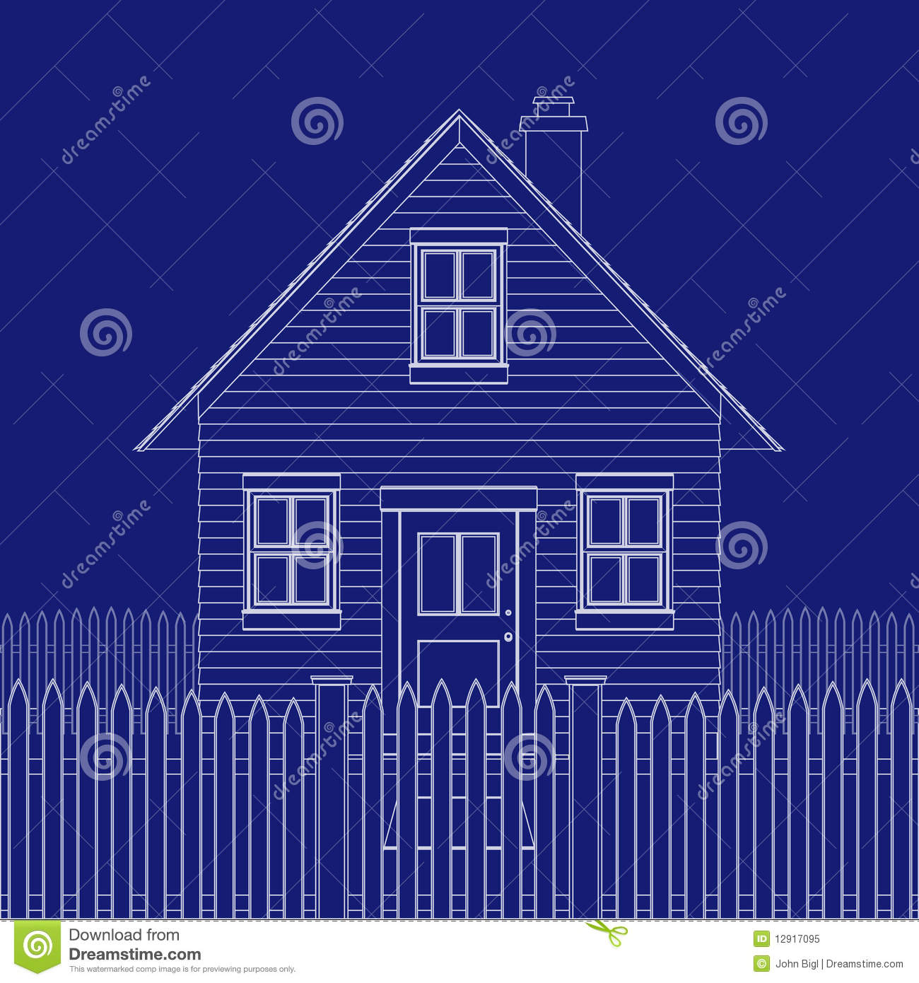 House Blue Print Royalty Free Stock Photo Image 12917095