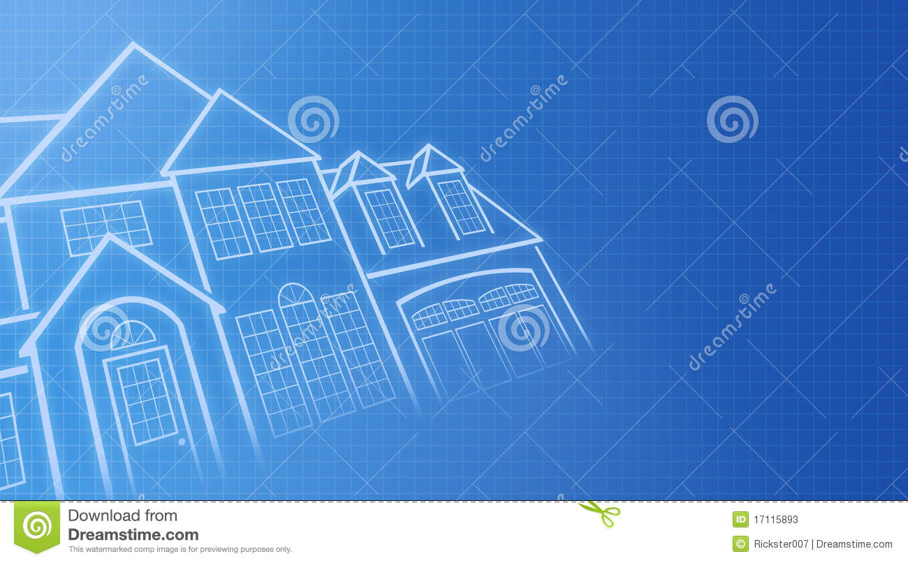 House Blue Prints Stock Photos Image 17115893