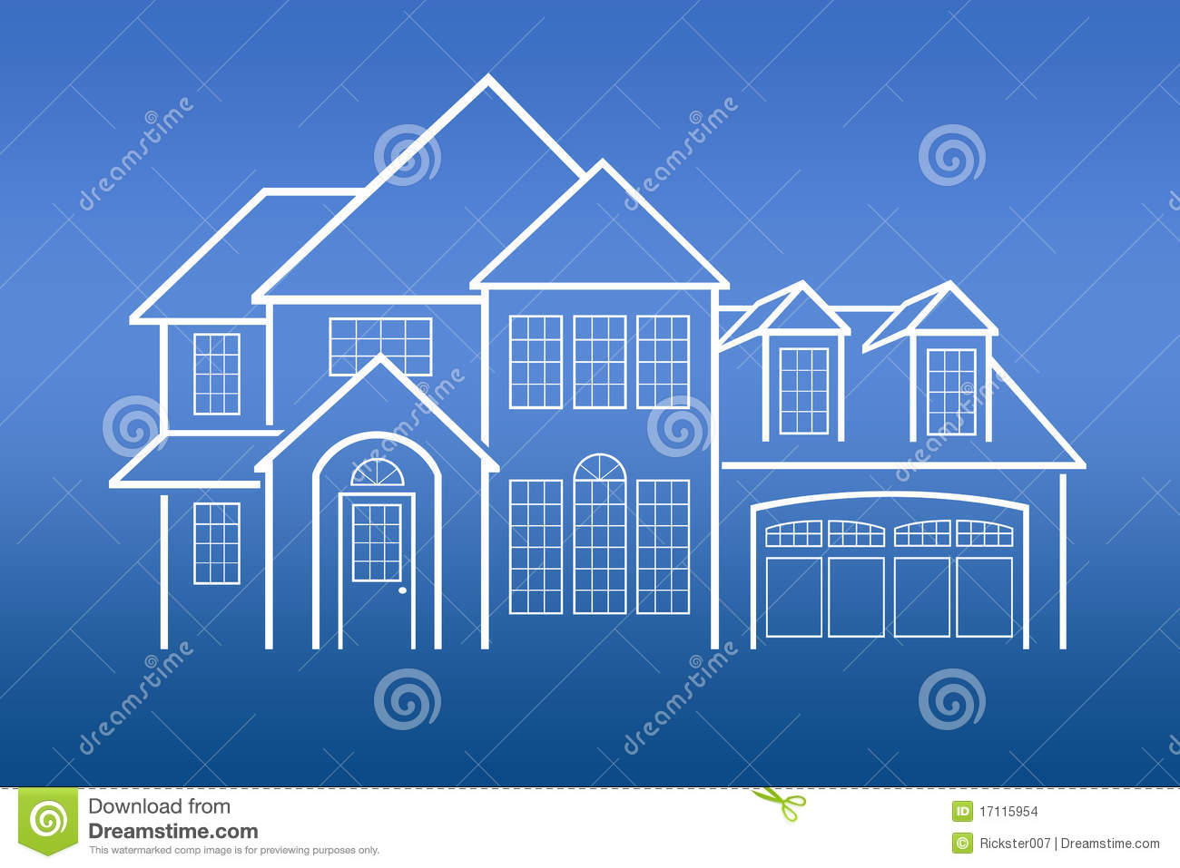 House Blue Prints Stock Images Image 17115954