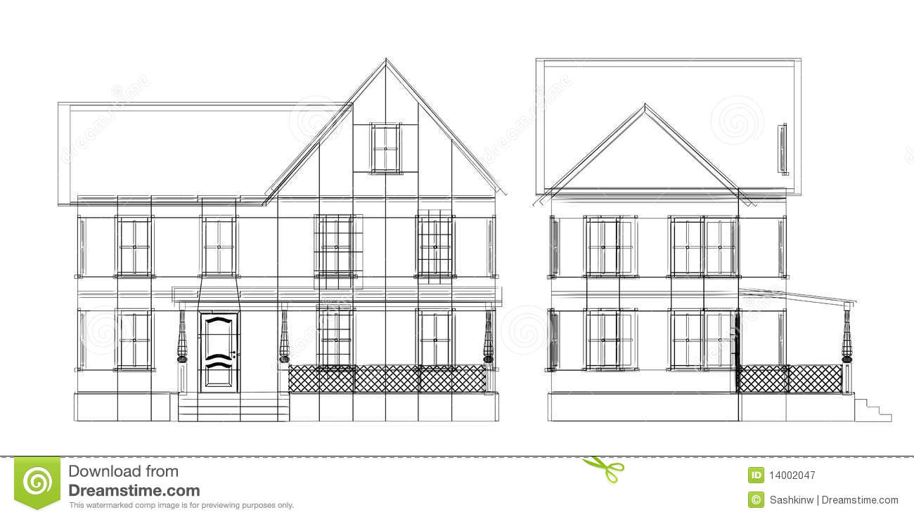 Pleasing House Blueprint Royalty Free Stock Photography Image 14002047 Largest Home Design Picture Inspirations Pitcheantrous