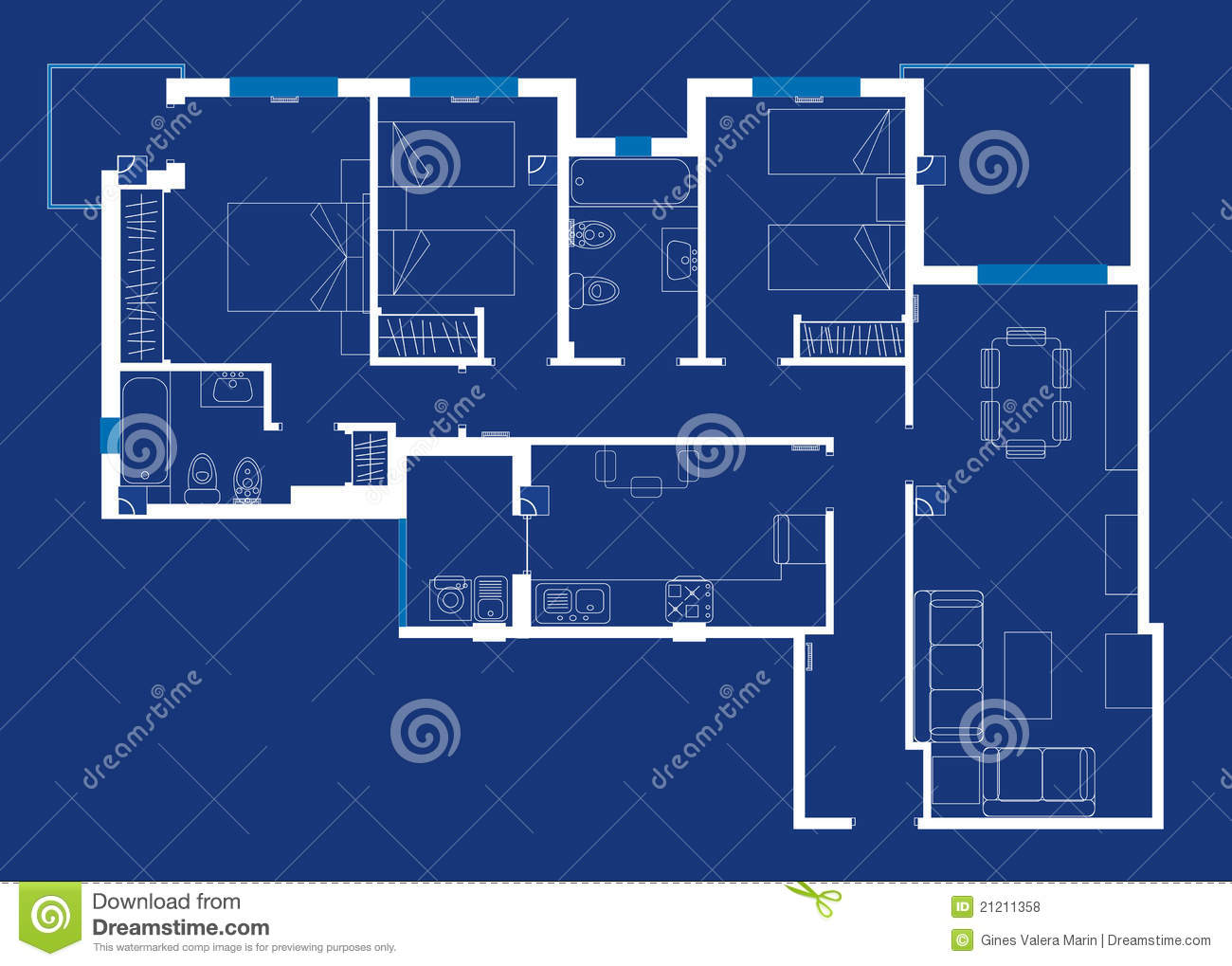 House blueprint royalty free stock photos image 21211358 for How to make a blueprint of a house