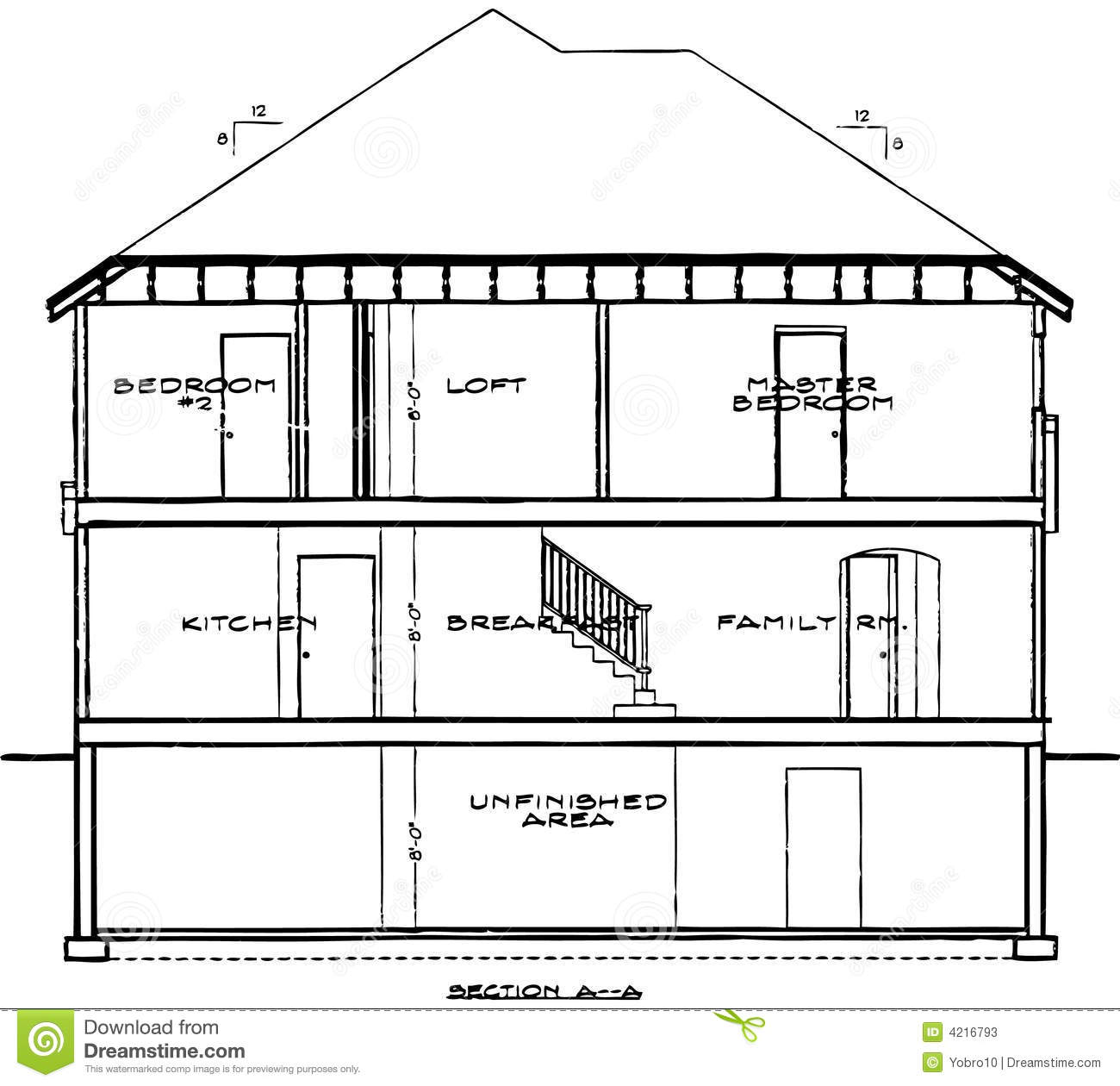 House Blueprint Stock Photos  Image: 4216793