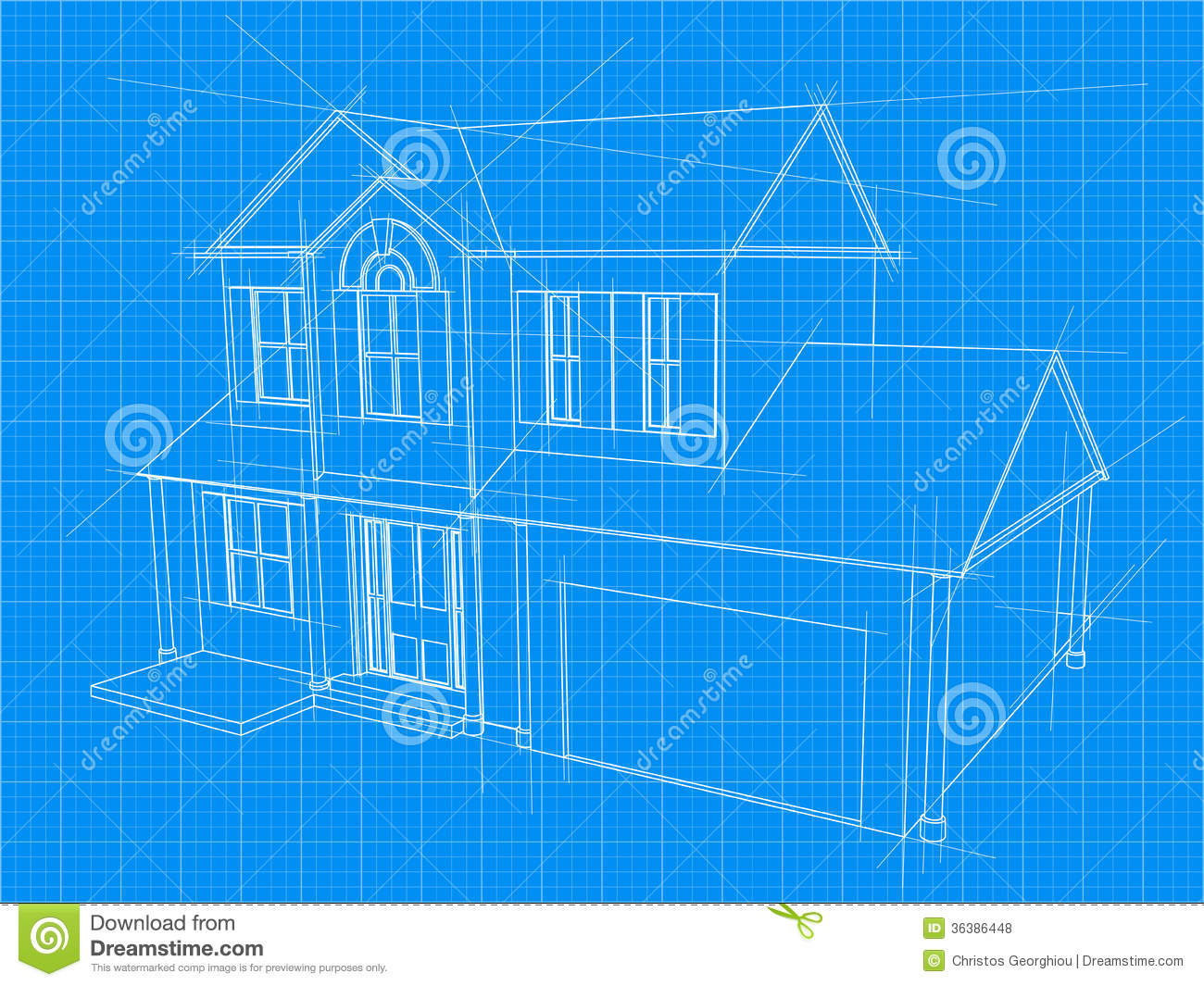 House blueprint stock vector illustration of diagram for Home building blueprints
