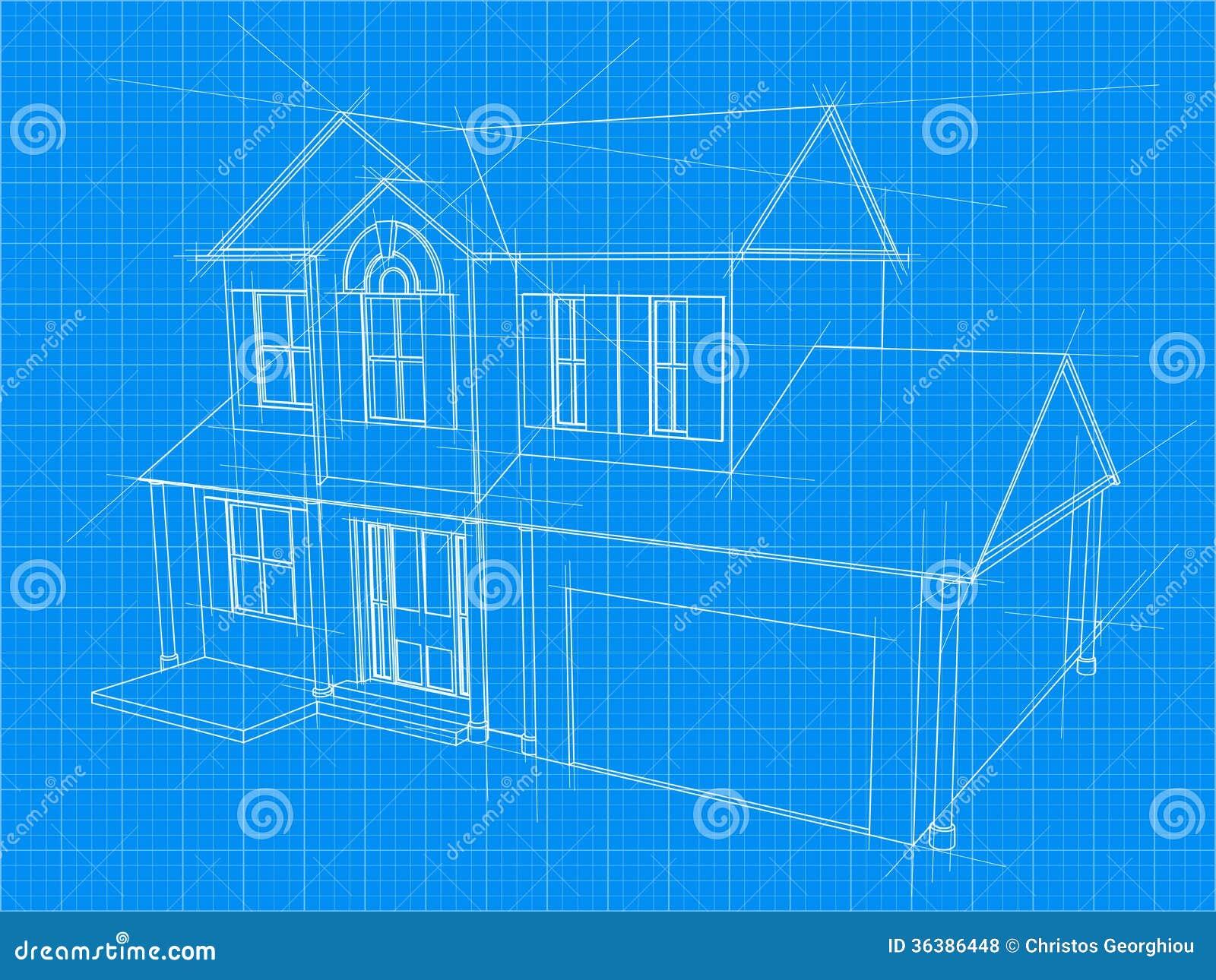Wondrous House Blueprint Royalty Free Stock Photos Image 36386448 Largest Home Design Picture Inspirations Pitcheantrous