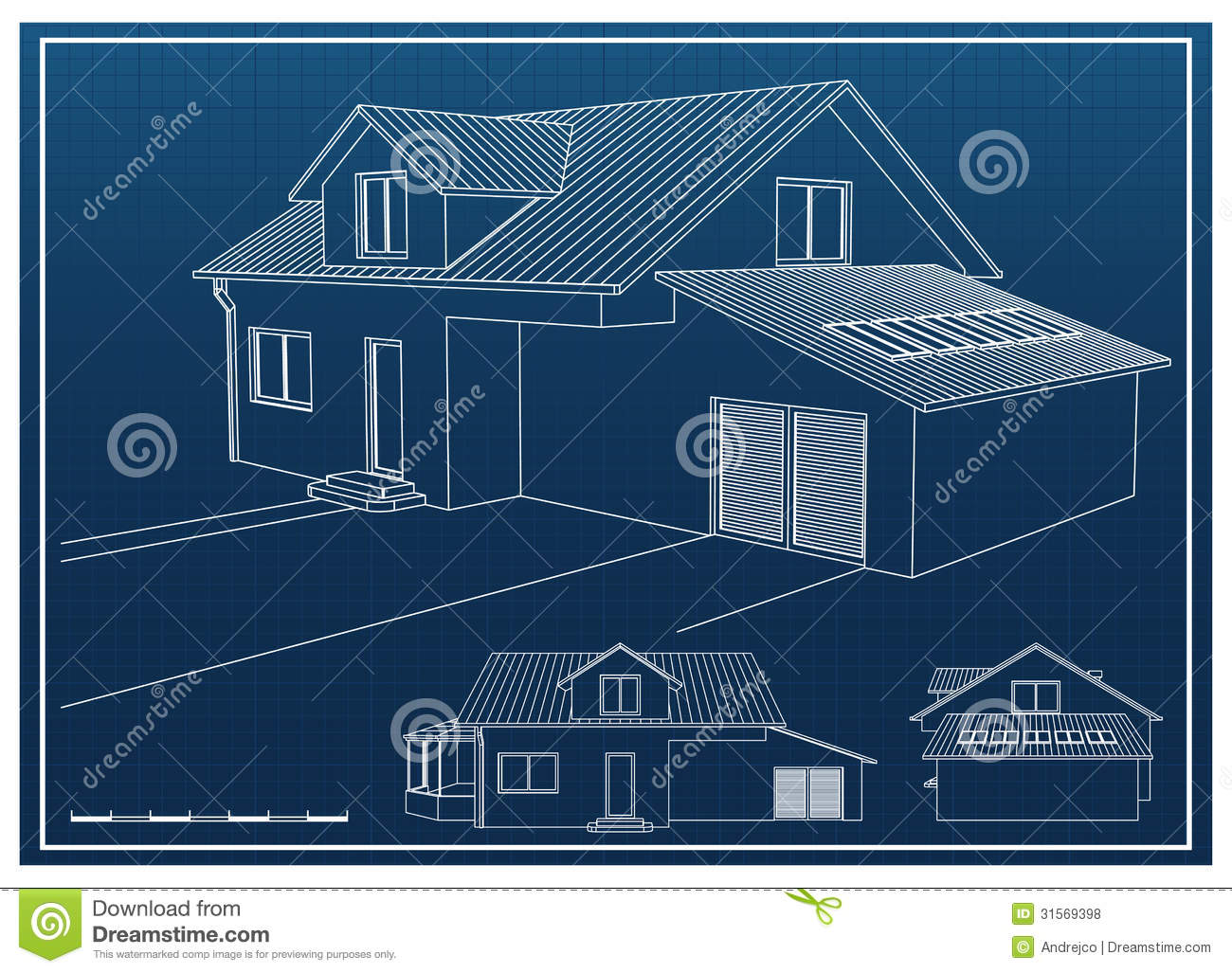 House blueprint stock vector illustration of architect 31569398 royalty free stock photo malvernweather Image collections