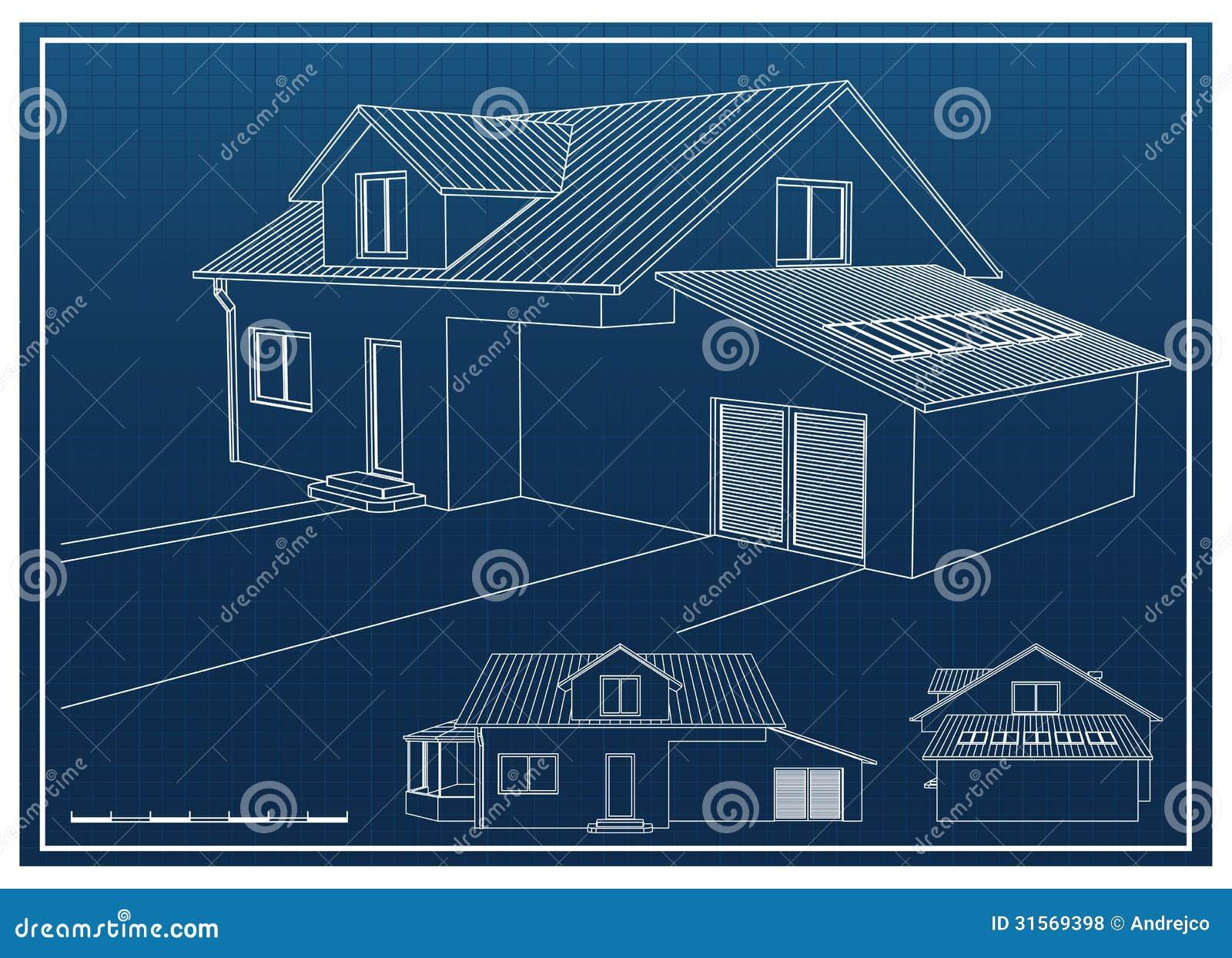House blueprint stock vector illustration of architect 31569398 royalty free stock photo malvernweather Images