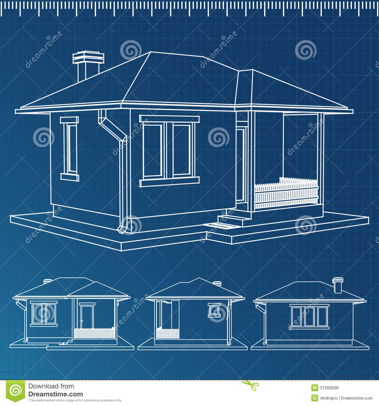 House blueprint stock vector image of project Blueprints for my house