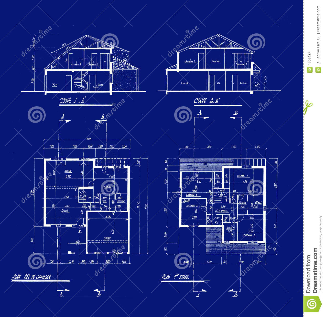 House Blueprints Stock Illustration Image Of Scale Blue