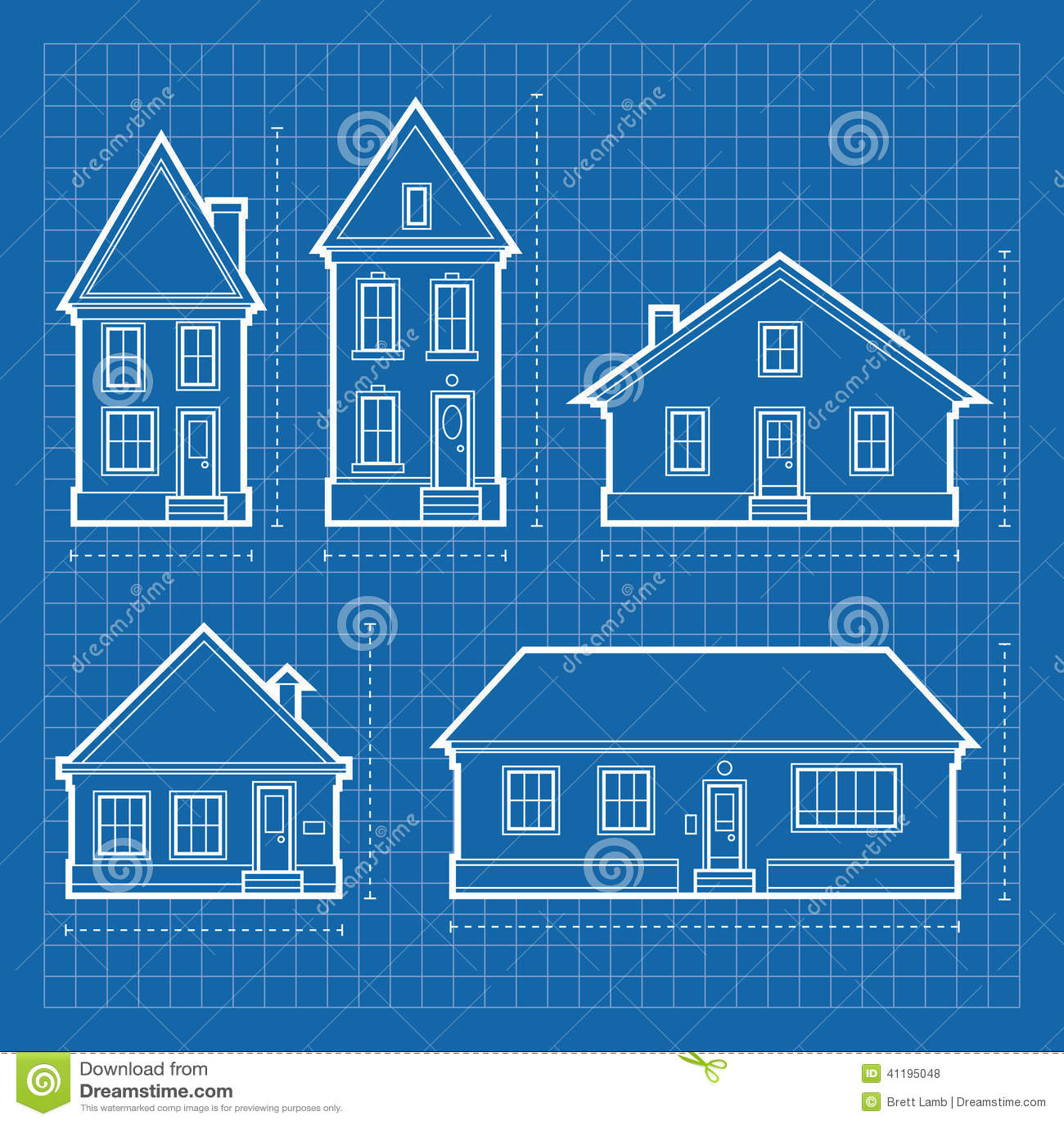 House Blueprints stock illustration. Illustration of blue - 41195048