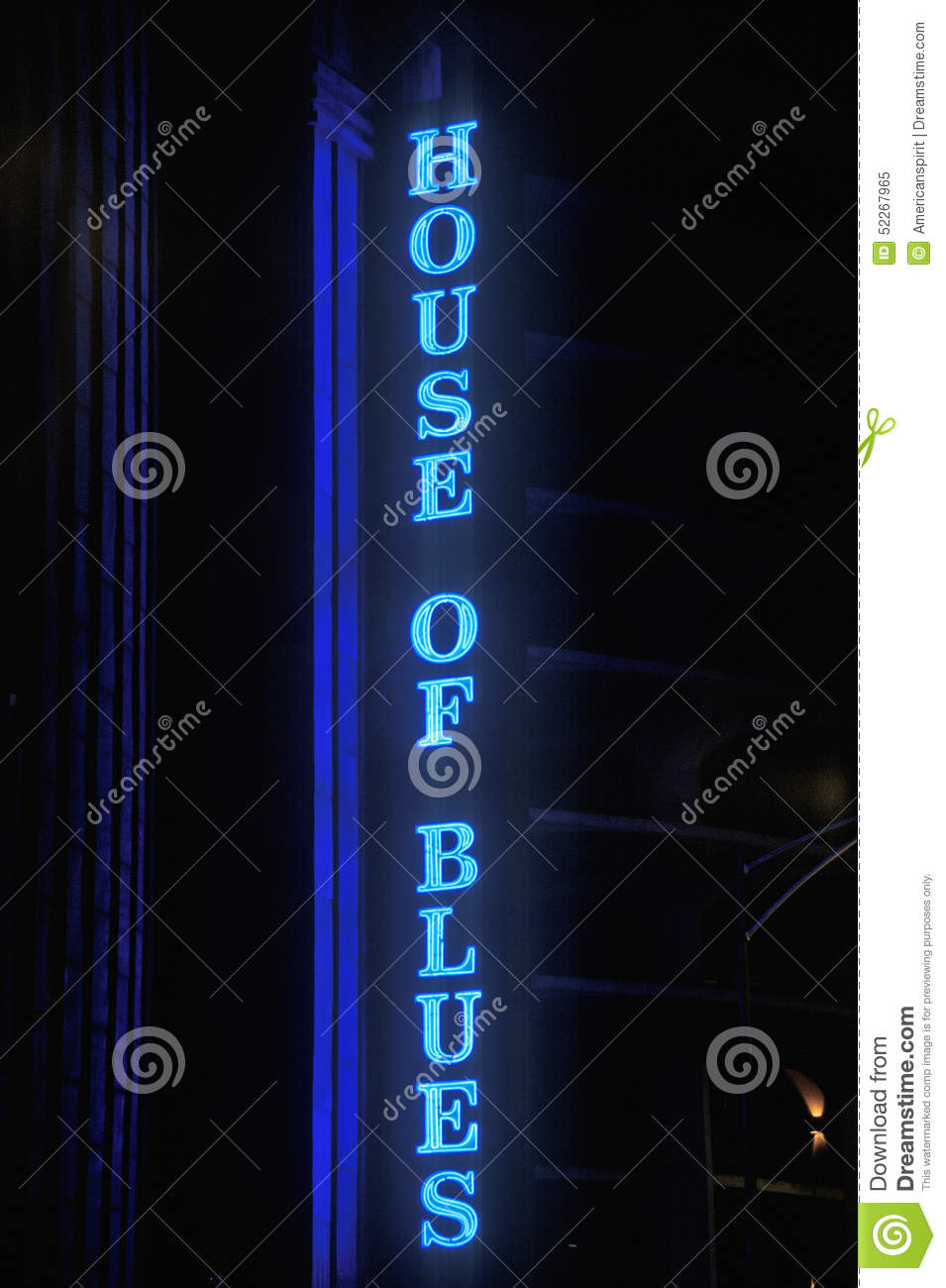 House of Blues Neon Sign, Chicago, Illinois