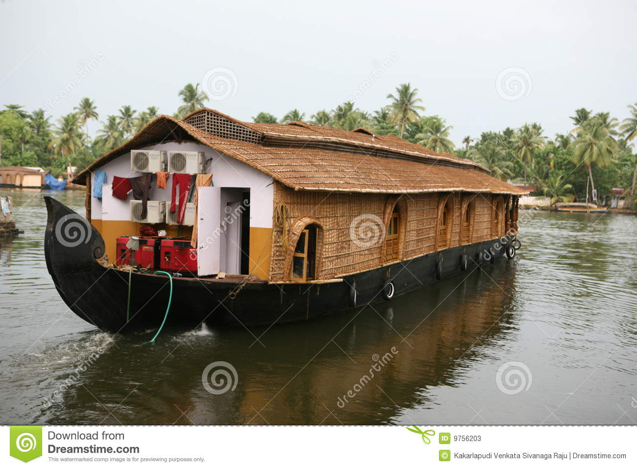 House Boat,kerala Stock Photos - Image: 9756203