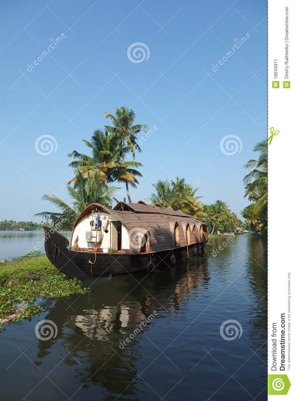 Download House-boat On Kerala Backwaters, Stock Image - Image of water, boat: 18534911