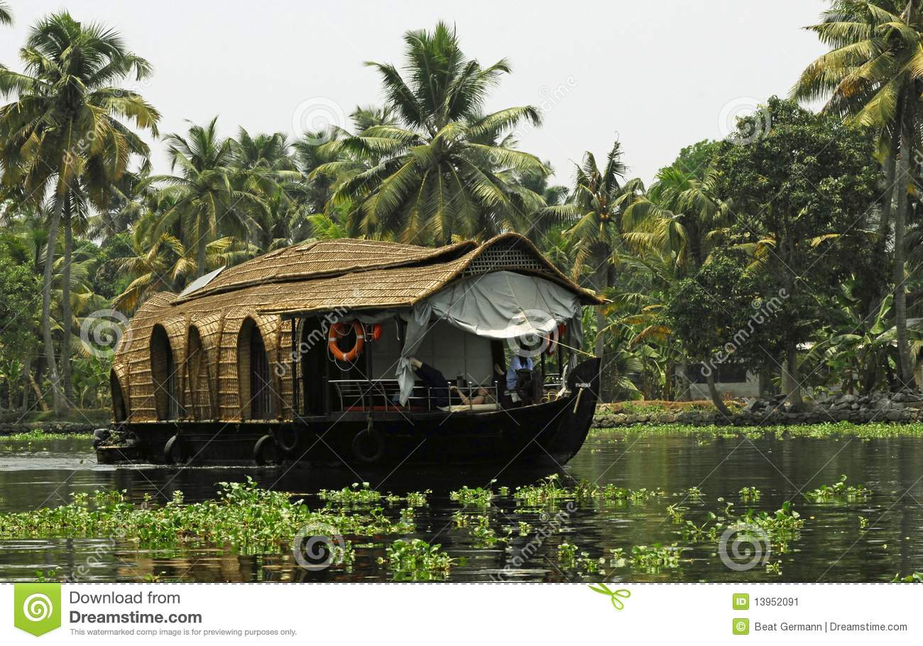 Download House Boat In Kerala, India Stock Image - Image of nadu, historical: 13952091