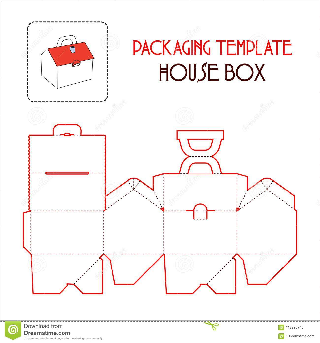 house box packaging template stock vector illustration of trophy