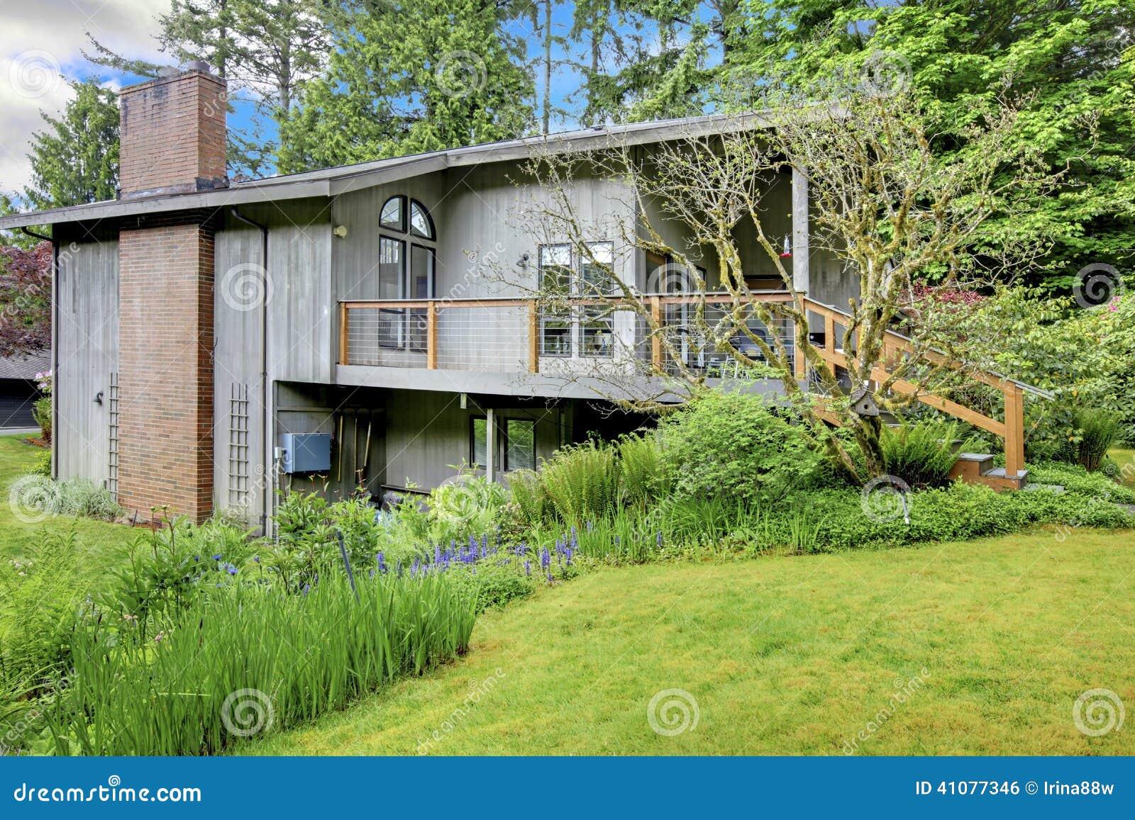 House With Brick Chimney Stock Photo Image 41077346