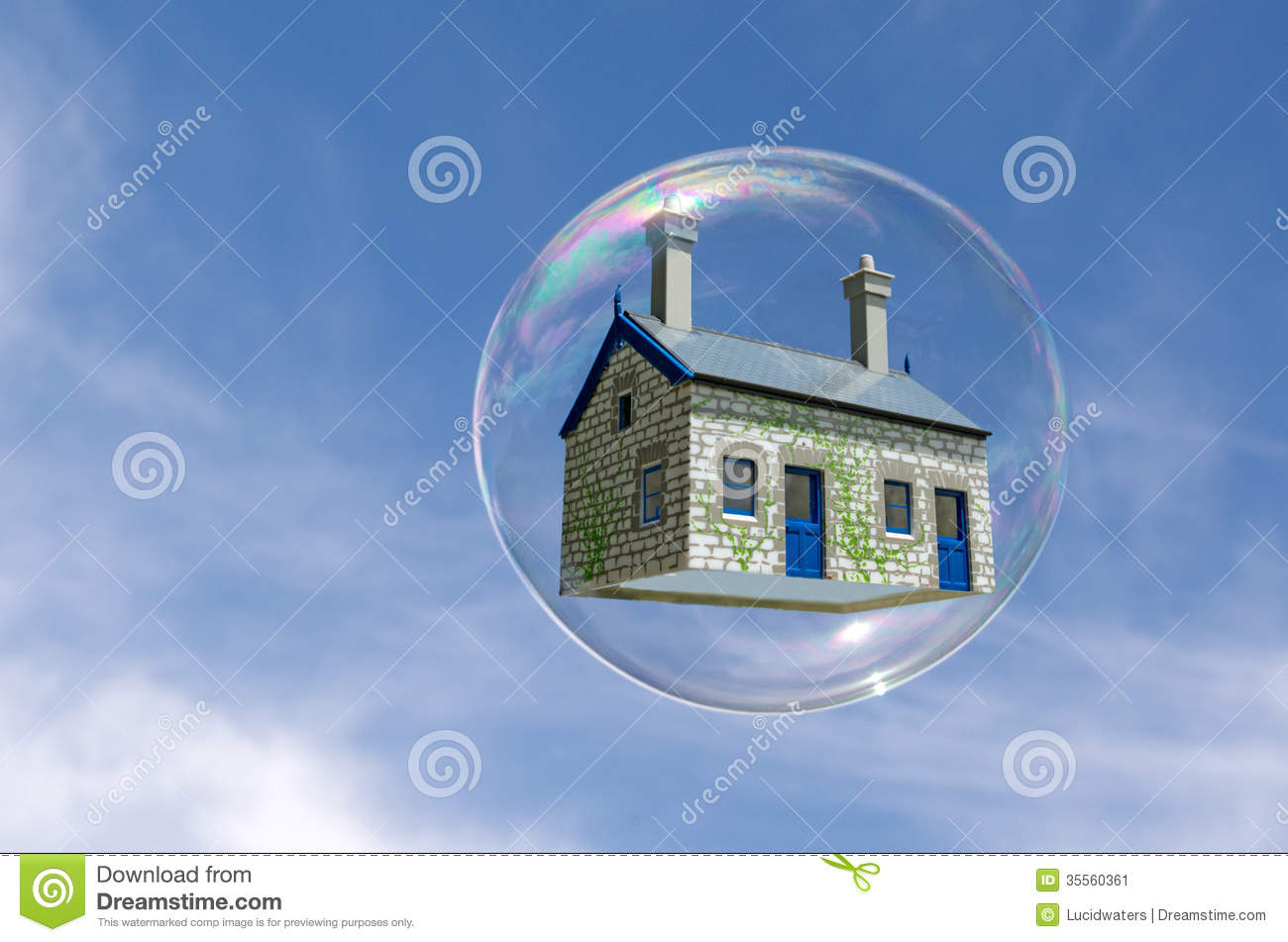 house bubble stock image