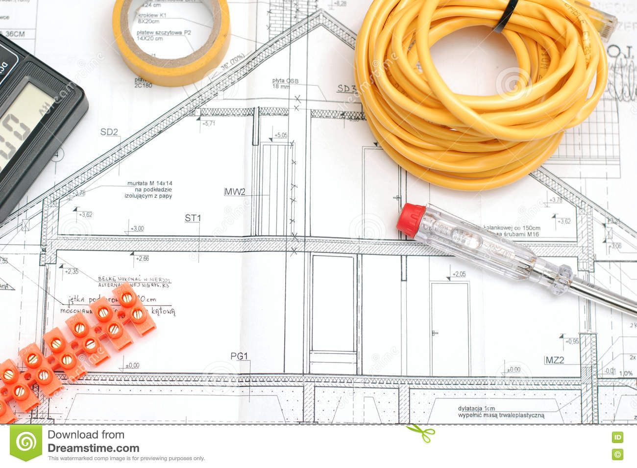 House Building Plan Stock Photo Image 81331820