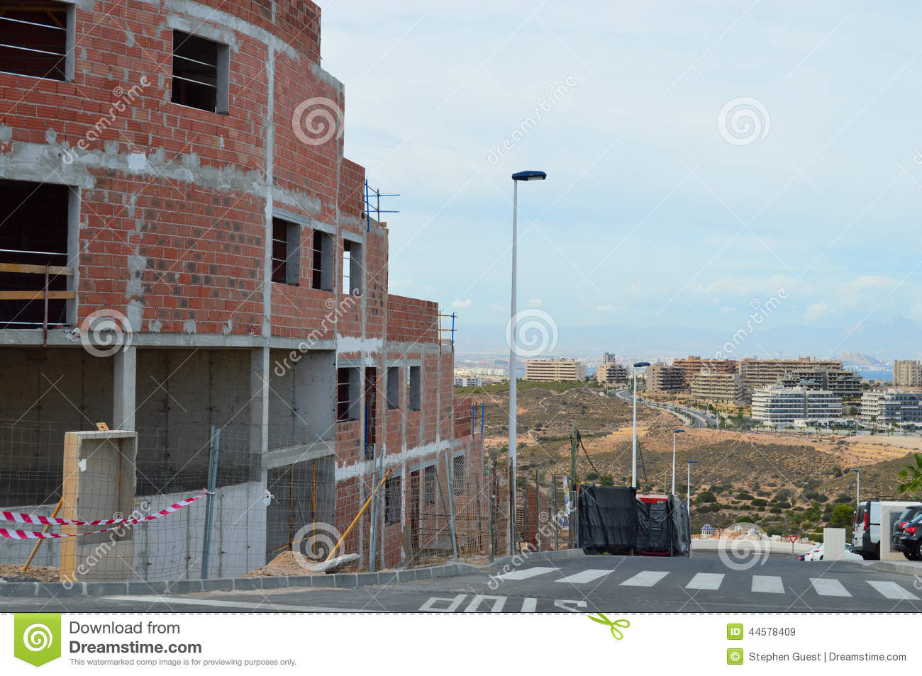 Construction spain building site house development stock for House building website
