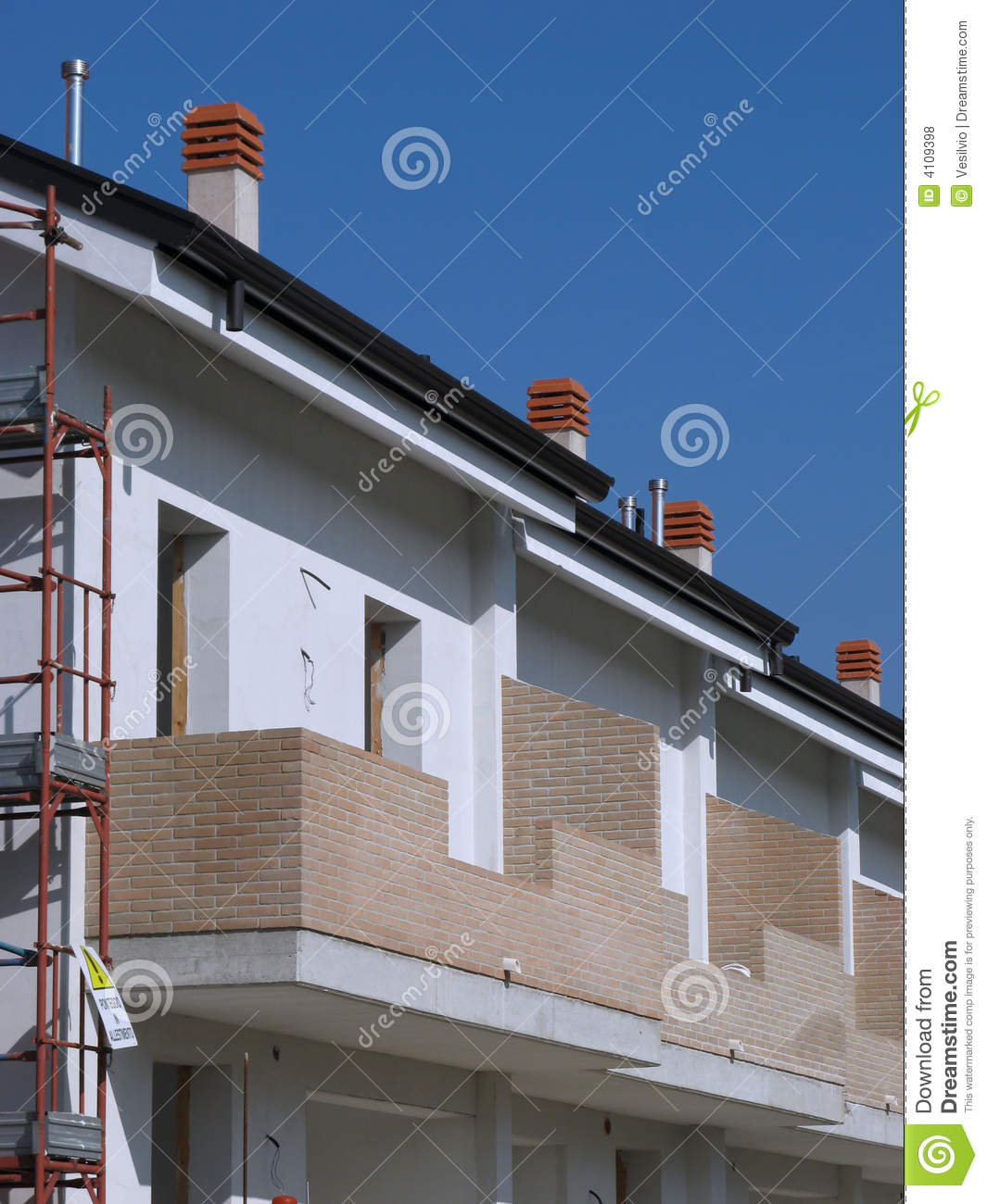 House Building Site Royalty Free Stock Photos Image 4109398