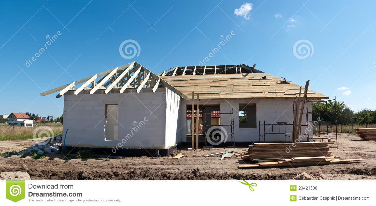 house construction stages of house construction
