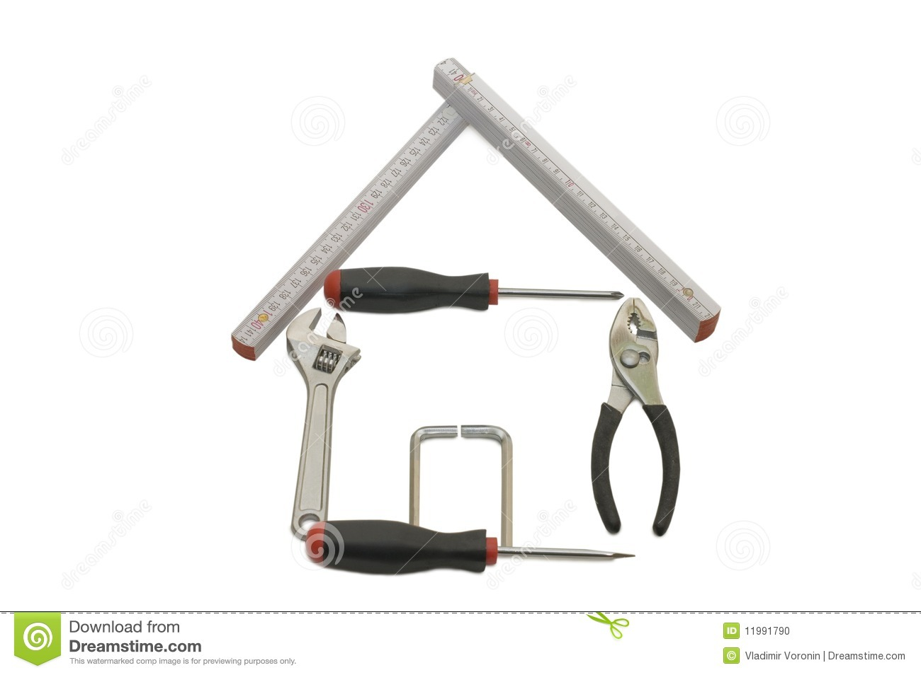 House from building tools stock photo image 11991790 Tools to build a house