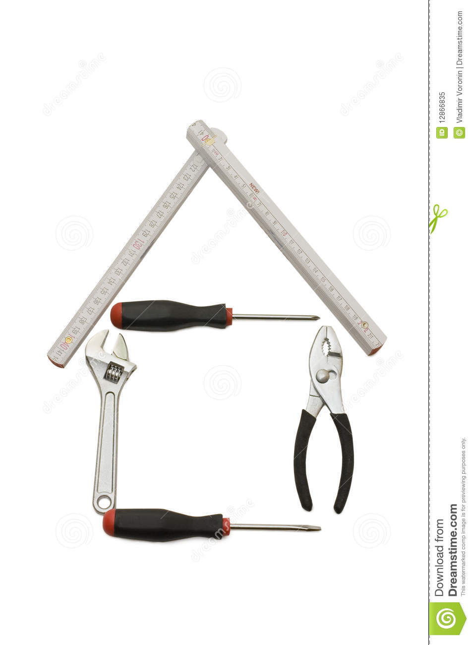 House From Building Tools Royalty Free Stock Photo Image