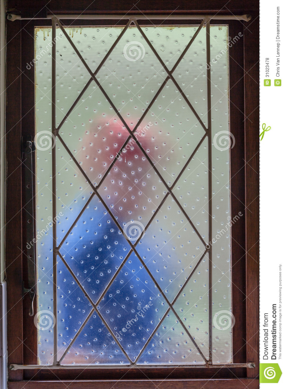 House Burglar Intruder Window Bars Royalty Free Stock