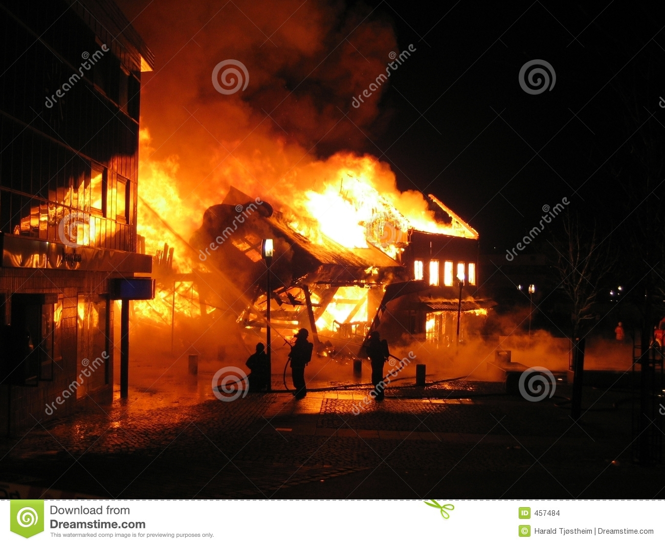 Download House in a burning inferno stock photo. Image of sizzle - 457484