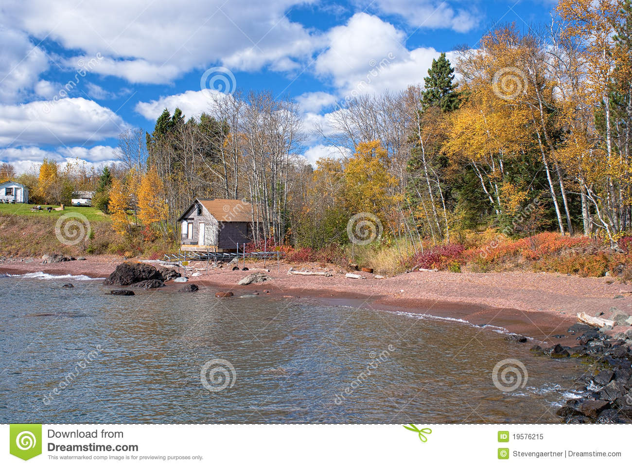 House and cabin lake superior royalty free stock photo for North shore lake superior cabins