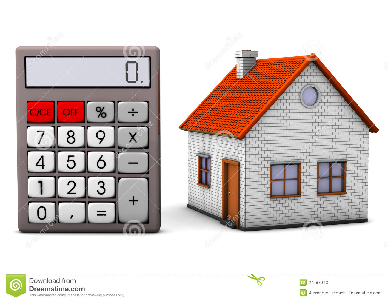 House With Calculator Stock Photos Image 27287043