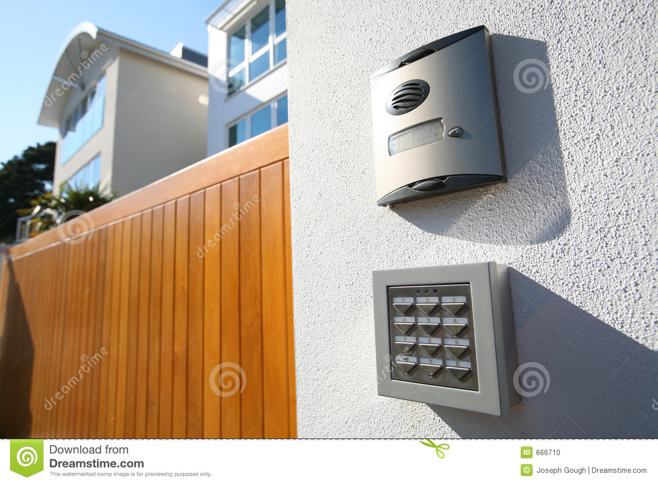 House Call Gate Answer Speaker Stock Photo Image 666710