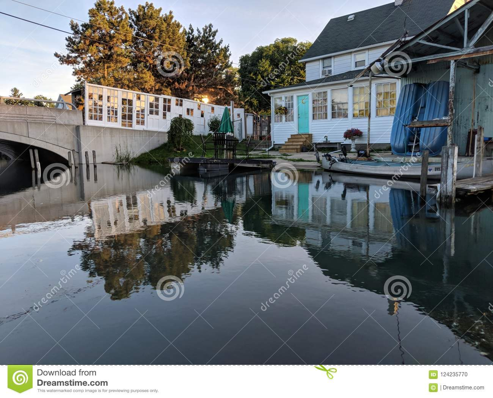 House canal fox creek Detroit doors artsy cute