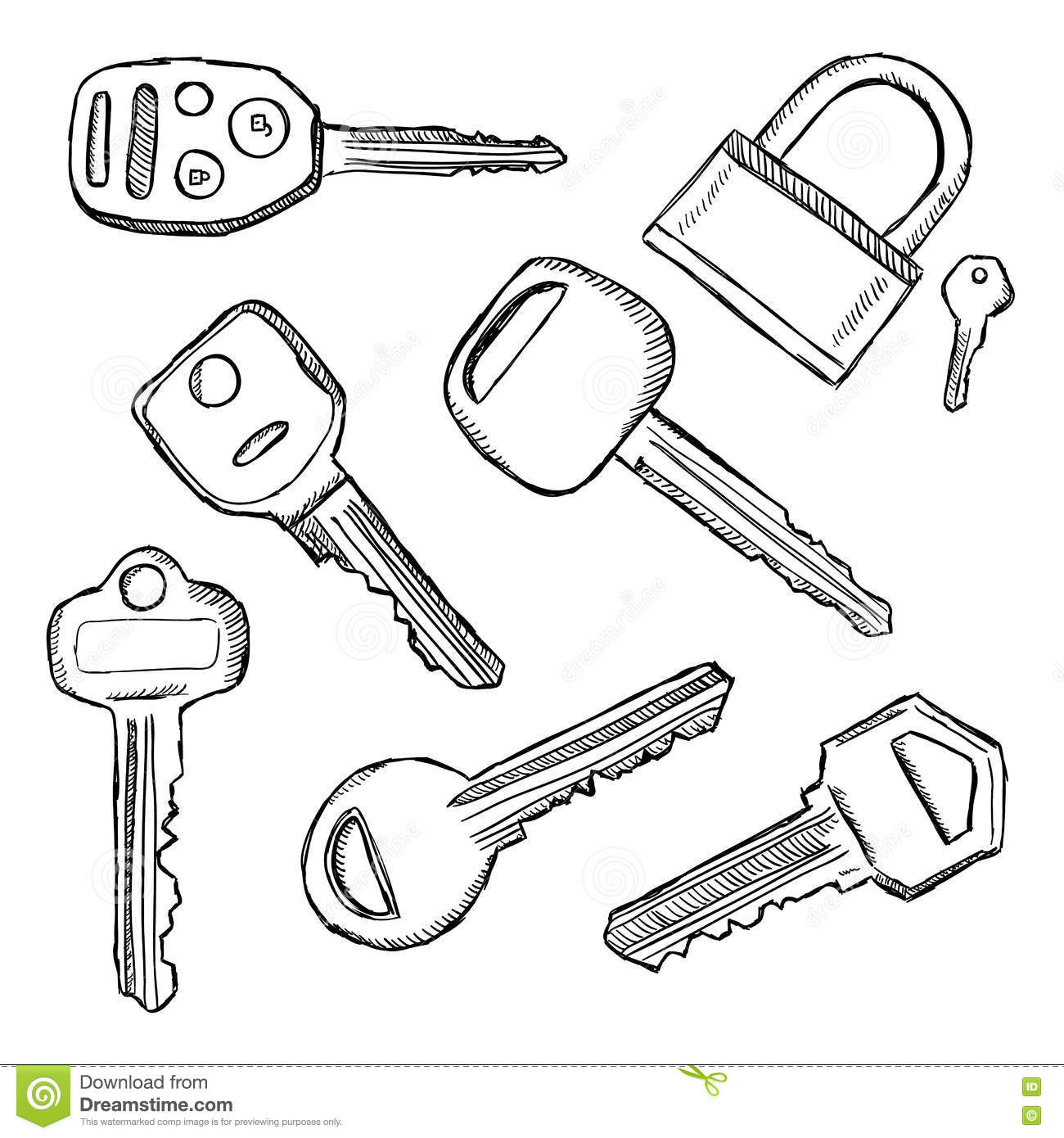 Colorful Patio Chairs Bufferedbreakoutbox Basiccircuit Circuit Diagram Seekiccom House Car Keys Doodle Key Doodles Illustration Hand Drawn 75613682