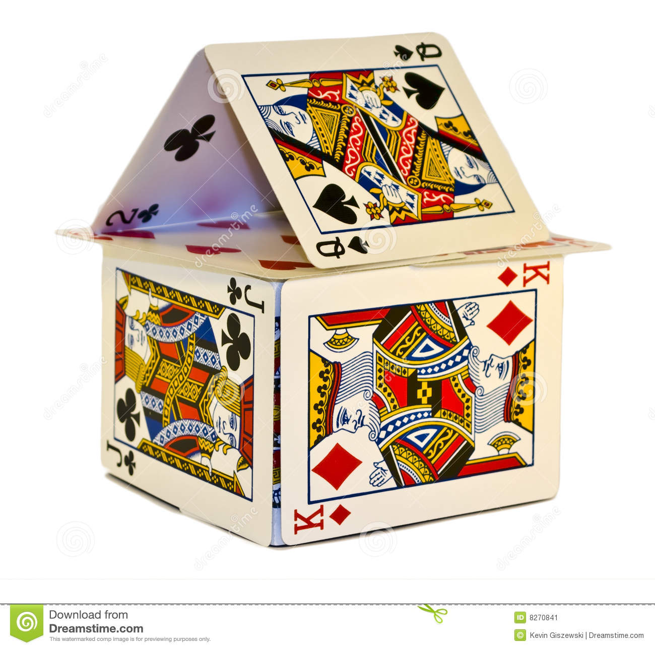 House Of Cards Stock Image Image 8270841